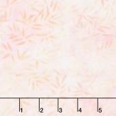 Icing on the Cake Batiks - Bamboo Leaves Ivory/Pink Yardage