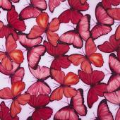 Viva Terra - Large Butterfly Fuchsia Yardage