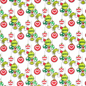 How the Grinch Stole Christmas - Grinch Ornaments Holiday Yardage