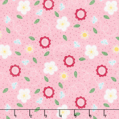 Flutter and Shine - Small Flower Pink Yardage