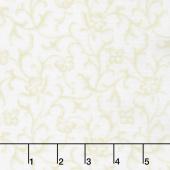 Emma's Garden - Tonal Scroll Cream Yardage