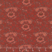 Best of Morris Fall - Flowering Scroll 1908 Crimson Yardage