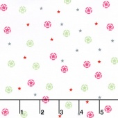 J is for Jeep - Pink Colorway Jeep Stars White Yardage
