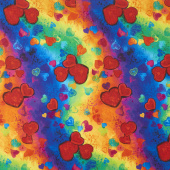 Full Heart - All Over Full Heart Bright Yardage