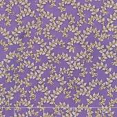 Florentine Garden - Branches Lavender Metallic Yardage