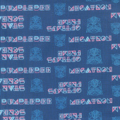 Transformers - Outline in Navy Yardage