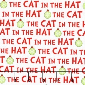 The Cat in the Hat Christmas - Christmas Cat Text Holiday Yardage