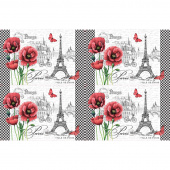 Ooh La La! - Paris Placemat White Digitally Printed Panel