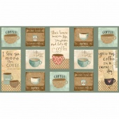 But First, Coffee! - Craft Panel Multi Yardage