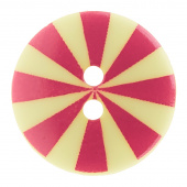 """Kaffe Fassett Button - 5/8"""" Pink & Yellow Radiate"""