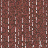 Woolies Heritage Flannel - Stitched Scroll Red Yardage