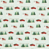 Christmas Traditions - Main Mint Yardage