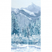 First Snow - Mountain Winter Metallic Panel