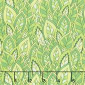 Rainbow Flight - Decorative Leaves Green Yardage