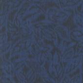 Miyako - Etched Leaves Dark BlueYardage