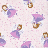Sofia the First - Poses Light Pink Yardage