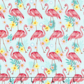 Animals - Flamingos Aqua Yardage