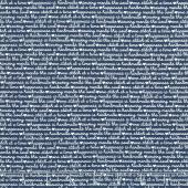 Blue Stitch - Text Navy Yardage