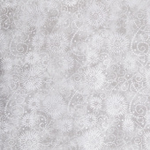 "Wilmington Essentials - Flower Burst Gray 108"" Wide Backing"