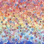 Effervescence - Dots Rainbow Digitally Printed Yardage