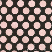 Glam Girl - Dots Black Metallic Yardage