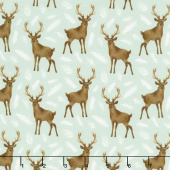 Winter Woods - Oh Deer in Gray Yardage