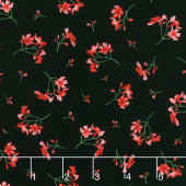 Prose - Little Flowers Black Yardage
