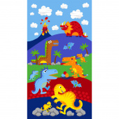 Dino Parade - Dinosaur Blue Panel