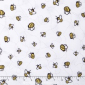 "Cuddle Prints - Bees-A-Buzz Sunshine 60"" Minky Yardage"