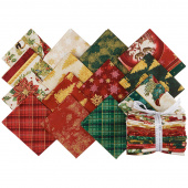 Winter's Grandeur 8 Holiday Metallic Fat Quarter Bundle