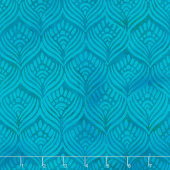 Nouveau Soul Batiks - Feathers Harbor Blue Yardage
