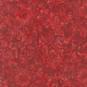 Tonga Batiks - United Pacific Red Yardage