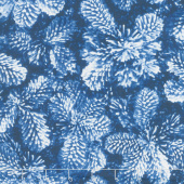 Pearl Frost - Frosty Pine Cones Navy Pearlescent Yardage
