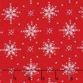 Woodland Winter - Stitch Snowflakes Santa Yardage
