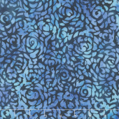 "108"" Wide Back Batik - Abstract Rose Ultramarine Backing"