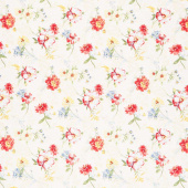 Sketchbook Garden - Tossed Florals Cream Yardage