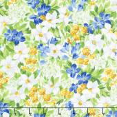 Summer Breeze V - Spring Garden Ivory Yardage