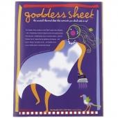 """Goddess Sheet 10.75"""" x 16.5"""""""