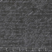 Under A Spell - Cursive Texture Black Yardage