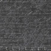 Under A Spell - Cursive Texture Black Yardage