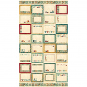 A Stitch in Time - Oxidized Copper Label Teal Panel