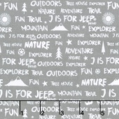 J is for Jeep - Pink Colorway Jeep Words Gray Yardage