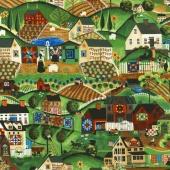 Lancaster - Farm Scene Multi Yardage