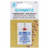 Schmetz Embroidery Twin Needle - 1-Pk size 3.0/75