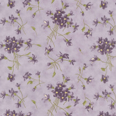 Sweet Violet - Violet Spray Lilac Yardage
