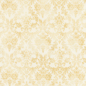 Gilded Blooms - Damask Natural Yardage