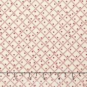 Vine - Diamond Dot Red Yardage