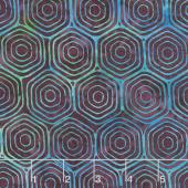 Neptune's Friends Batiks - Hexagon Blackberry Yardage
