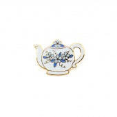 Floral Teapot Pin by Pin Peddlers