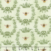 Le Bouquet - Queen Bee Green Yardage